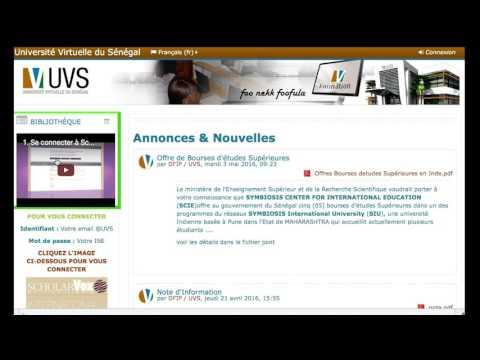 Premier accès à la Plateforme de l'UVS