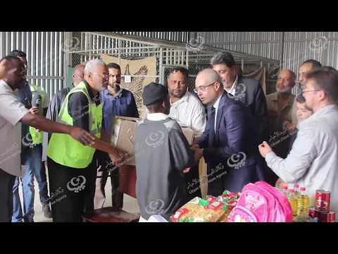 السفير التركي يزور مخيم نازحي تاورغاء في طرابلس