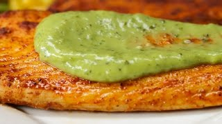 Chili Lime Tilapia with Avocado Crema by Tasty