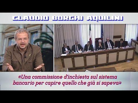 🔴Borghi: «Una commissione d'inchiesta sul sistema bancario per capire quello che già si sapeva»