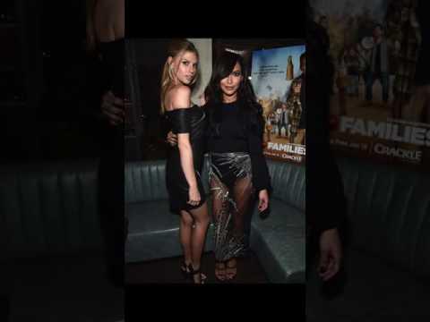 Naya Rivera parades slender pins sheer trousers fur coat attends Mad Families premiere party LA