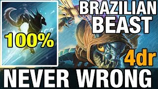 Video NEVER WRONG - BRAZILIAN BEAST - 4dr Plays Slark - Dota 2 MP3, 3GP, MP4, WEBM, AVI, FLV Januari 2018