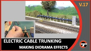 How to make layout detail by adding a power line cable effects to your model railwayA how to video on making detail for your model layout.a how to video produced by cheekytek. Sharing is permitted on this video.