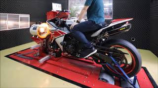 6. 2012 Yamaha YZF-R1 Dyno Run Top Speed 306 km/h with Akrapovic Evolution Full Titanium Exhaust