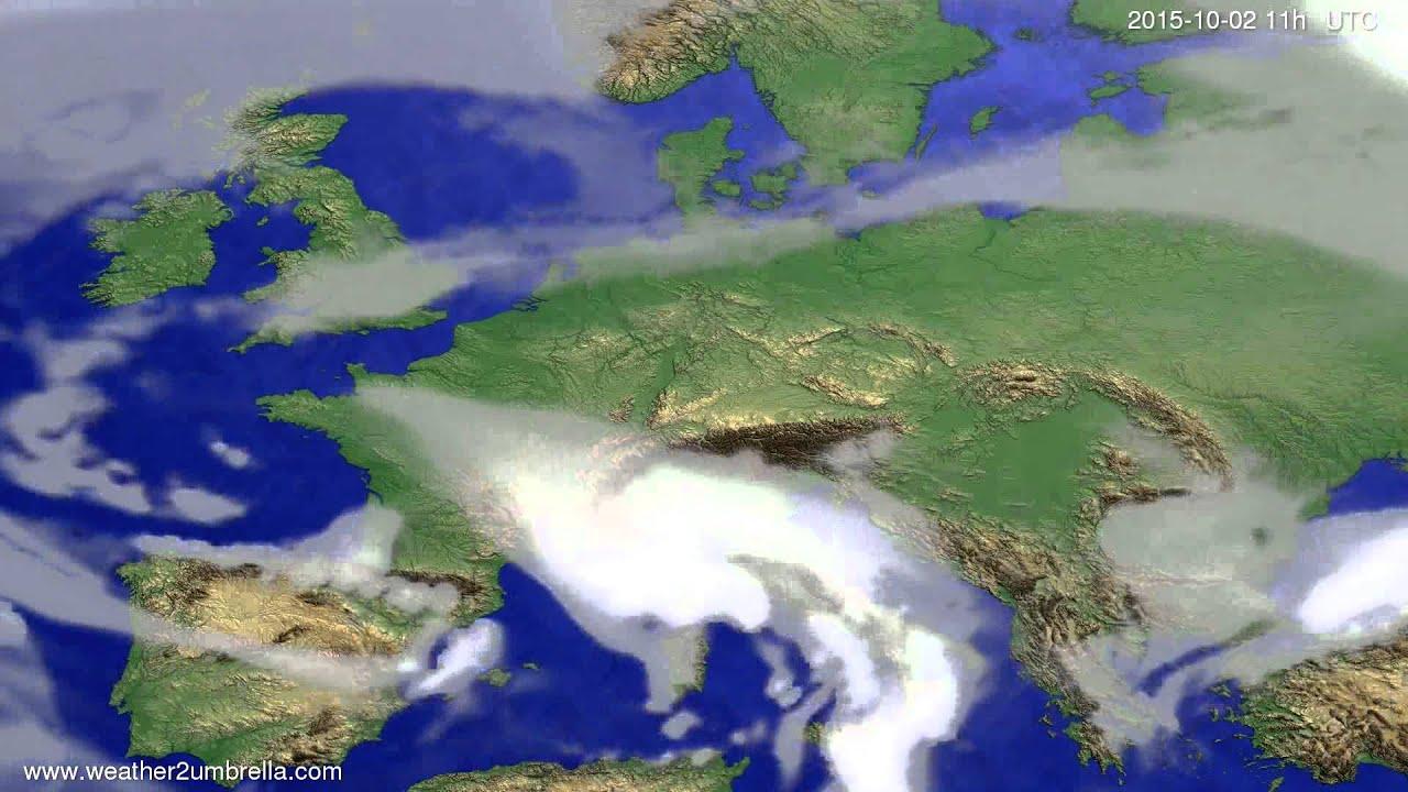Cloud forecast Europe 2015-09-29