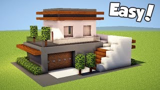 Minecraft: How To Build A Small & Easy Modern House - Tutorial (#21)