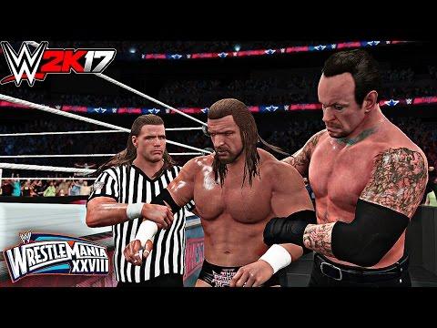WWE 2K17 - Undertaker vs Triple H Hell In A Cell Match! Wrestlemania