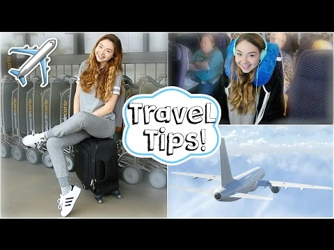 Airplane/Travel Tips + Easy Makeup & Outfit!   Meredith Foster