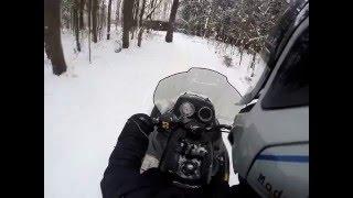 7. Прохват по ле�у на �негоходе brp ski doo expedition sport 550f