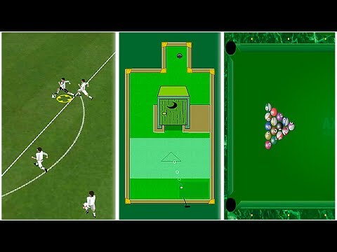 TOP 3 Sports Arcade Games: Football, Billiards Pool, Mini Putt - Games Compilation for Kids