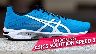 video Unboxing zapatillas Asics Gel Solution Speed 3 Azules 2016