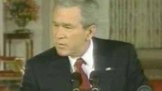 George W. Bush drunk while giving speech