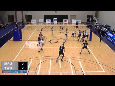 2015-11-27 TWU Men's Volleyball Highlights vs Mount Royal