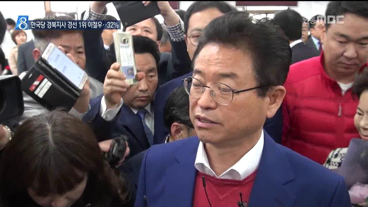 R]한국당 경북지사 경선 1위 이철우