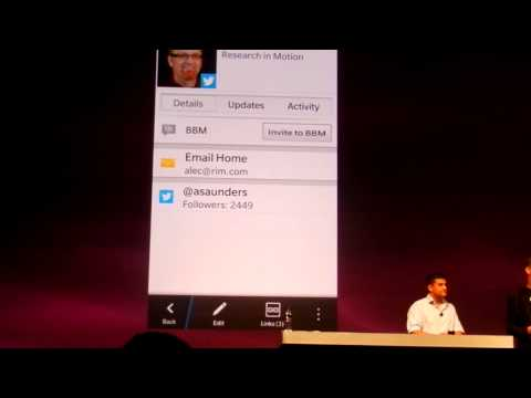 Contacts App in BlackBerry 10 Presented on Video