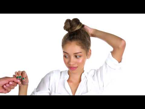 How To: Top Knot Style for Curly Hair