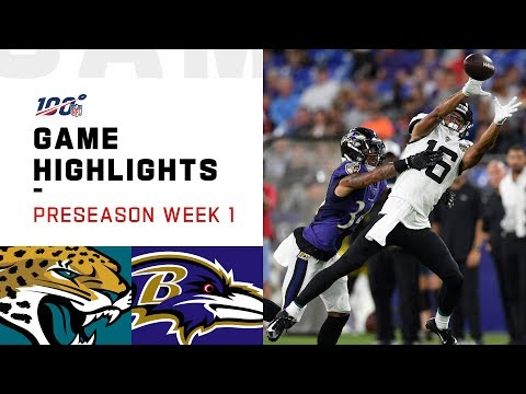 Jaguars vs. Ravens Preseason Week 1 Highlights | NFL 2019