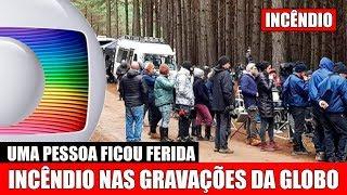 Pega Fogo em local de gravações da nova serie da Globo uma pessoas teve que ser atendida as pressas