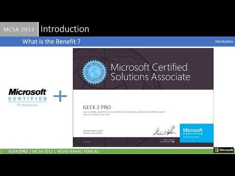 0 - Introduction - MCSA Windows Server 2012