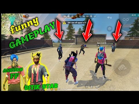 DUO VS SQUAD GAMEPLAY WITH ANKUSH FF || FUNNY FAN MOMENT WITH AFF ARMY ||Ritikstar