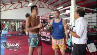 Yokkao training center's Petchdam Kiatmoo9 AKA Black Diamond spoke to The Roman Show about his career, injuries, Muay Thai and the role it plays in the country, and more. Visit http://www.yokkao.com for more information. Special thanks to Sirisak Juabkwamsuk for the translation.