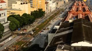 Evolução das obras do Porto Maravilha - março de 2016