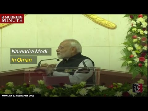 Indian Prime Minister Narendra Modi addressed a crowd of around 20000 at the Sultan Qaboos Sports Complex.