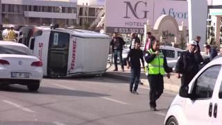 afyon özdilek yolu trafik kazası 10 yaralı