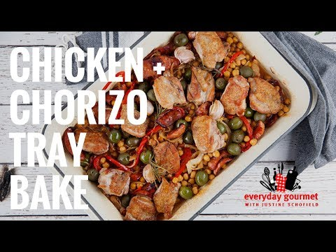Chicken & Chorizo Tray Bake | Everyday Gourmet S7 E72