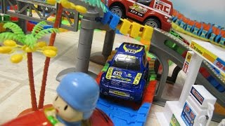 """In this video I unbox and assemble a wiggly car track set. This set includes track pieces, a bridge, trees, cactus, gas station, and 2 cars to ride on the track. The cars have front and rear lights and require 2 AA batteries that are not included. The track contains enough pieces to be assembled in many different configurations.Later Pocoyo stops by to take a ride on the track.Check out my other fun toy videos:Watch Playing with the Riplash Flyers from Disney Movie Planes Fire and Rescue. We have the Skipper and Dusty Riplash Flyers.""""http://youtu.be/pLSOYiihqEs""""Unboxing 5 Pack Shopkins Small Mart with Hidden Shopkin""""http://youtu.be/EgpZleCzmj8""""Unboxing and Playing Spiderman Villain Showdown""""http://youtu.be/ythIXRIWyU4""""Opening 8 Transformers Rescue Bots Playskool Heroes""""http://youtu.be/Yc03l9Z8H-c""""Review of Bumblebee Transformer Rescue Bot Playskool Heroes""""http://youtu.be/zAk83z3iNrk"""""""