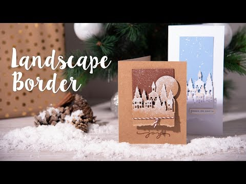 How to Make Christmas Card Using Landscape Boarder - Sizzix
