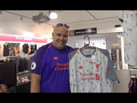 SHOPPING FOR THE NEW LIVERPOOL AWAY JERSEY.