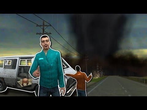 SURVIVING A TORNADO!? - Garry's Mod Gameplay - Gmod Base Building (видео)