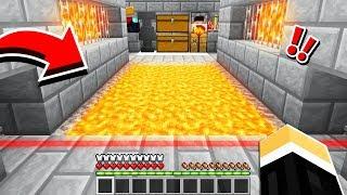 Raiding a SECRET Minecraft Base.. rigged with redstone traps