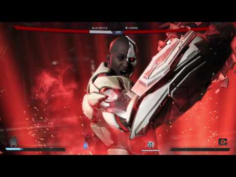 Injustice 2 - Chapter 6 Assault on Stryker's Island: Blue Beetle vs Cyborg Fight Gameplay Sequence