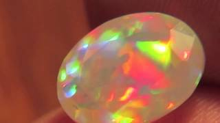 2.47ct Brilliant Rainbow Prism Faceted Oval Welo Ethiopia Crystal Opal