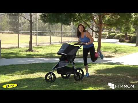 BOB & FIT4MOM Stroller Exercises - Glute Squeeze