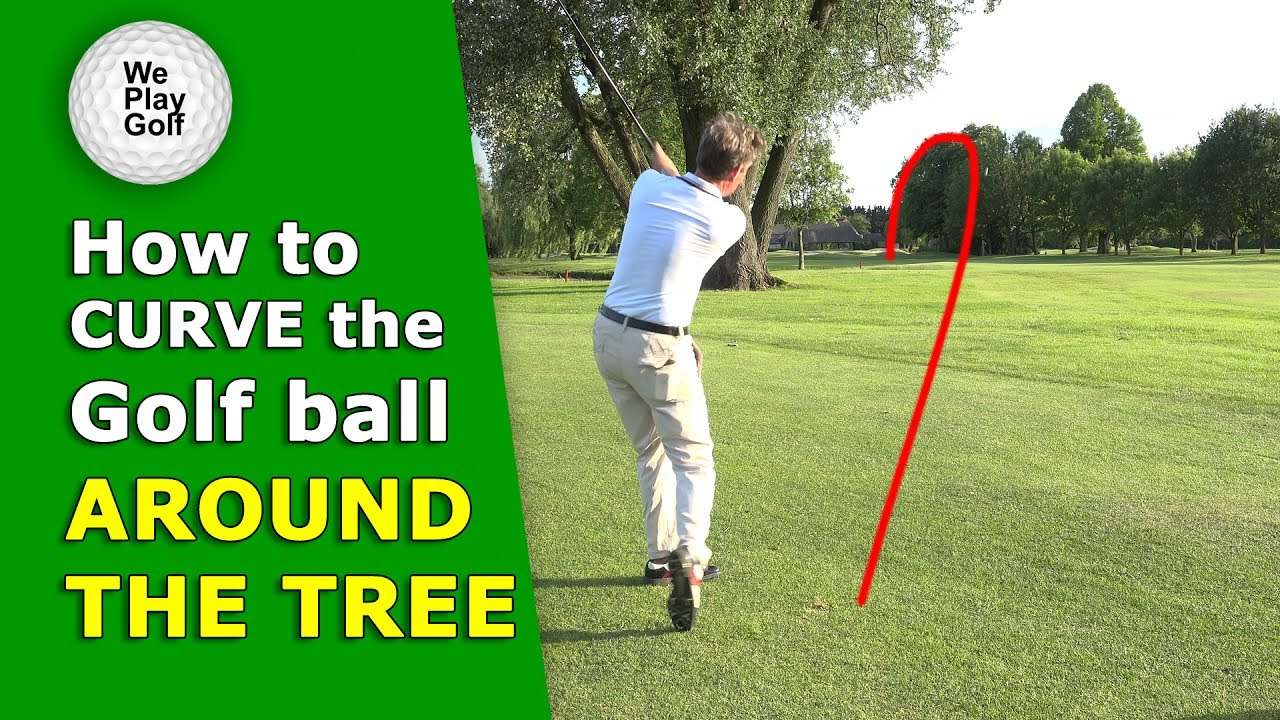 How to curve the golf ball around a tree, from right to left