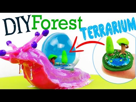 HOW TO MAKE MINIATURE FOREST TERRARIUM DOME SNAIL DIY Ocean Polymer Clay  Epoxy Resin Tutorial Craft_Terrárium, Vivárium. Heti legjobbak