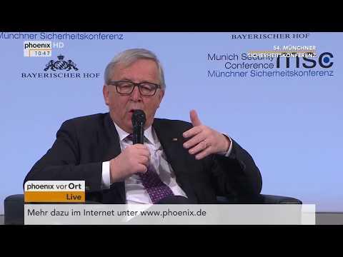 Rede von Jean-Claude Juncker bei der 54. Münchner Sic ...