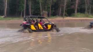 9. Can Am Maverick Max 1000 XRS going deep