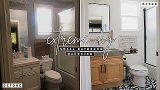 Extreme DIY Small Bathroom Makeover!