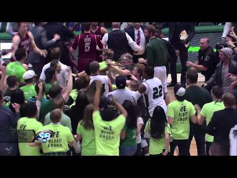 Brawl - Things get ugly at the conclusion of a game between Utah Valley and New Mexico State. NMSU's K.C. Ross-Miller threw a basketball at UVU's Holton Hunsaker as ...