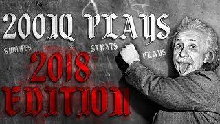 The SMARTEST PRO Plays Of 2018! (200IQ Plays, Moves, EU Nades & More!) - CS:GO