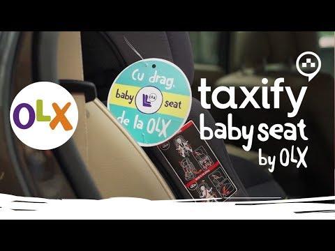 OLX si Taxify au echipat 50 de automobile cu scaune pentru copii