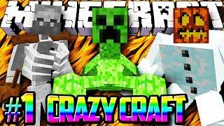 Minecraft Crazy Craft Modded Survival #1 - CRAZYCRAFT w/Lachlan&Preston