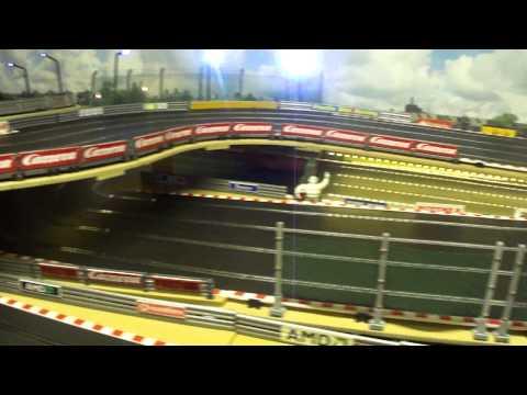 Scalextric, Slot Car Racing, Pink DeLorean, Alex driving