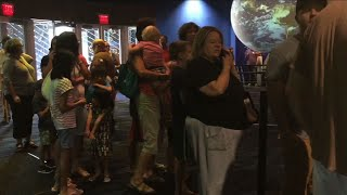 Eclipse enthusiasts are lining up for a pair shades that will let them safely watch Monday's big event, as the passing moon will block out the sun, darkening daytime skies over parts of the U.S. for the first time in 99 years. (Aug. 18)Subscribe for more Breaking News: http://smarturl.it/AssociatedPress