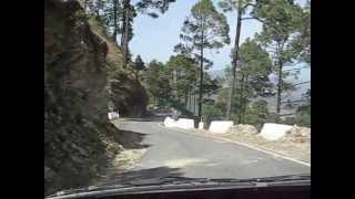 Lansdowne India  City pictures : Lansdowne to Tarkeshwar Temple (Uttaranchal/Uttarakhand - India) Road Drive