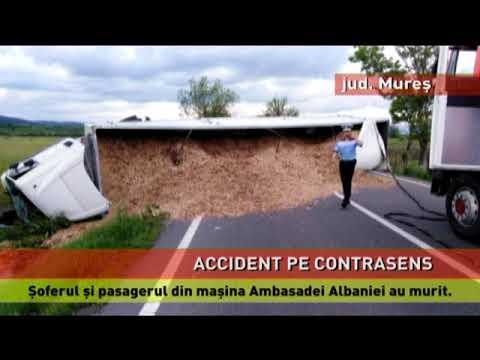 O mașină a Ambasadei Albaniei, implicată într-un accident mortal